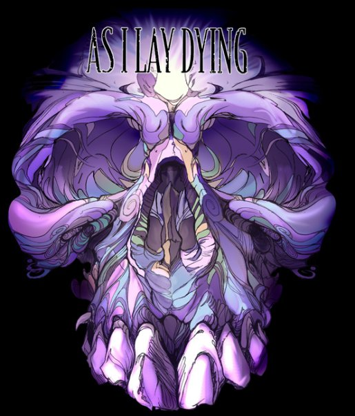 As I lay dying skull psychedellic