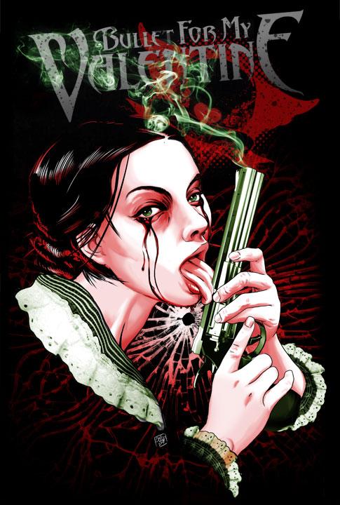 lick gun goth bullet for my valentine