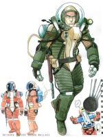 Astronaut suit design for Nitrate Films