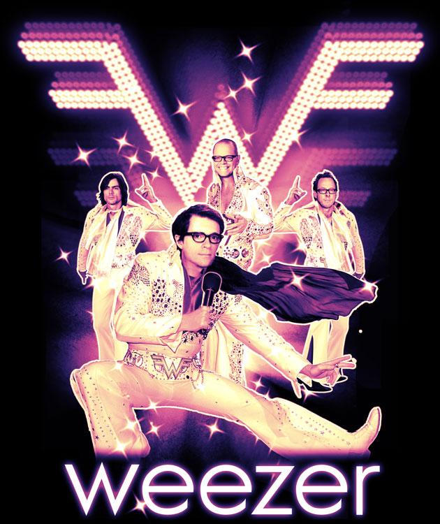 """""""Elvis Tee"""" for Weezer"""